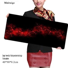 Mairuige Free Shipping 900*400mm Red Line Gaming Large Rubber Mouse Pad Keyboard Mat Table Send BoyFriend The Best Gift