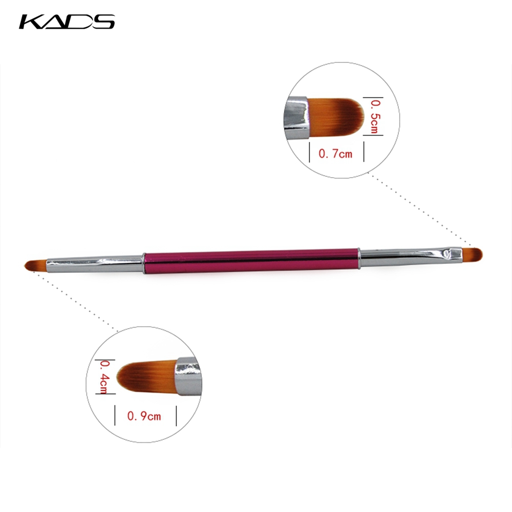 KADS 1pc Professional Nai Art Gel Brush Pen Double Heads Nail Brush Handle Nail Art Gel Brush Manicure Tools High Quality