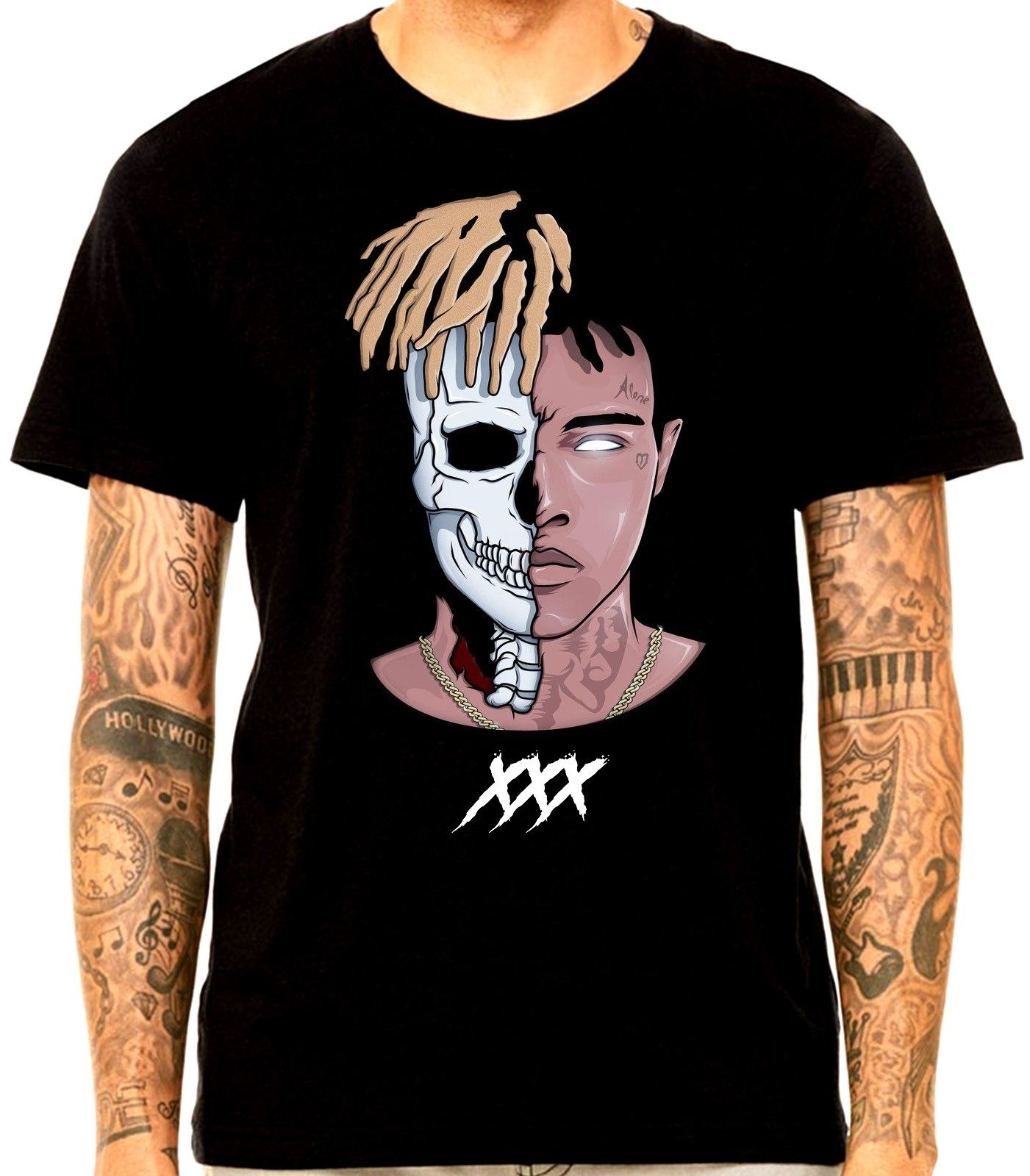 XXXtentacion DEAD AND ALIVE Revenge Bad Vibes Forever T SHIRT 17 RAPPER R.I.P Classic Tops Tee Shirts 100% Cotton Short Sleeve ...