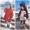 Niñas abrigos y chaquetas de lana hiver vetement enfant fille marca rojo niñas chaqueta de abrigo de invierno abrigo