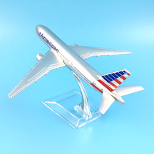 Free Shipping American Airlines Boeing 777 16cm alloy metal model aircraft child Birthday gift plane models toys for children