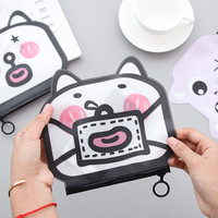 Cat Pencil Case Pvc Plastic School Supplies Bts Stationery Gift Cute Pencil Box Pencil Bag Tools Kawaii Cosmetic Bag Storage Bag Pencil Bags