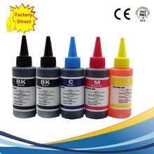 5x 100ml High Quality Refill Dye Ink Kit For HP178 B8558 D5468 C5388 B209a C309a B110a Series Printer Based Ink With Vivid Color