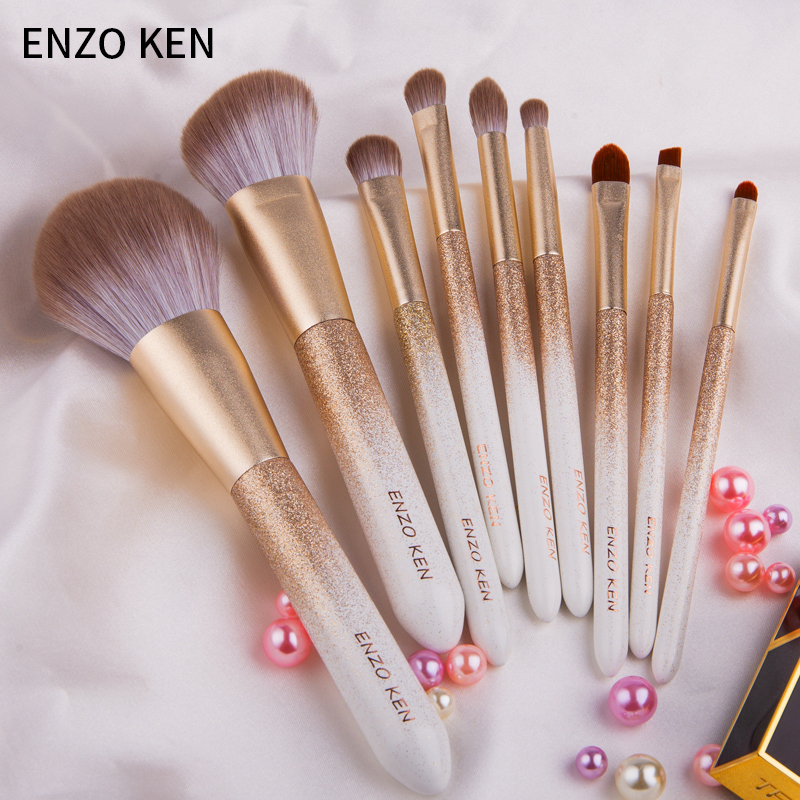 ENZO KEN 10 Pcs Makeup Brushes Set for Highlighting and Contouring Suitable for Eye and Face Makeup 2