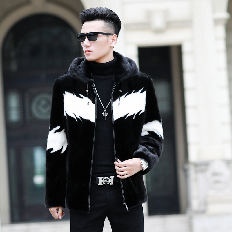 Natural Mink Fur Coat 2019 Real Fur Coat Winter Jacket Men Real Shearling Warm Outwear for Mens Clothing Veste Homme M001 YY739(China)