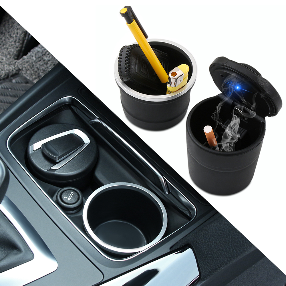 UPSM Ash Tray Ashtray Box Storage Cup Holder Mid-Size Fit for Audi A3//S3 2014 2015 2016 Q3 2012 13 14 15 2016 A4//B9 2016 8V0857951 8UD857951