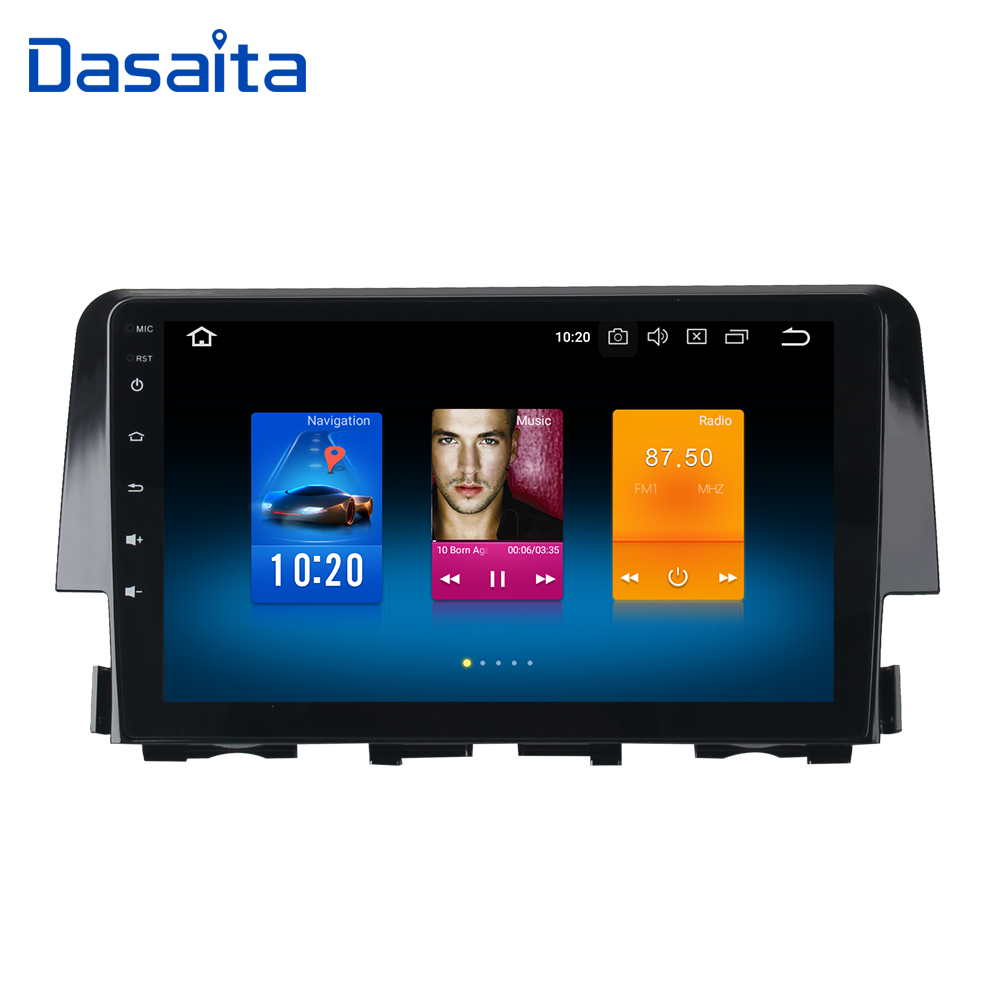 Dasaita 9 Android 8.0 Car GPS Radio Player for Honda Civic 2015-2016 with Octa Core 4GB+32GB Auto Multimedia Stereo video 4G