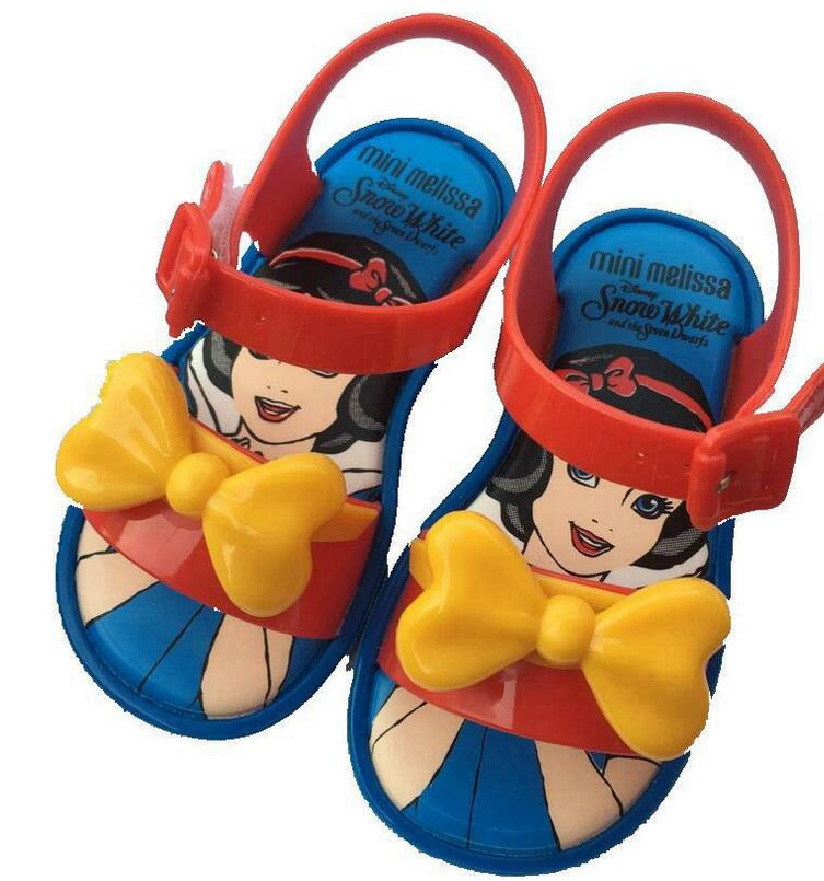 Mini Melissa New Mickey Bowknot Jelly Princess Sandals Shoes Girl Jelly Sandals Baby Jelly Sandals Shoes