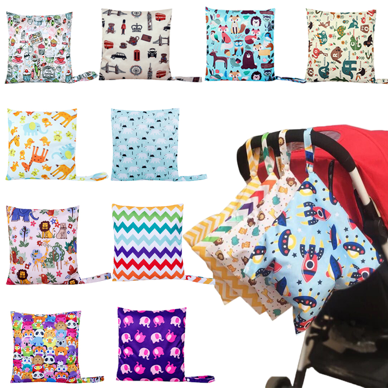 Mummy Diaper Nappy Bag Baby Travel Diaper Bag,Waterproof Maternity Small Wet Bags for Mommy Storage Stroller Accessories 28*30cm