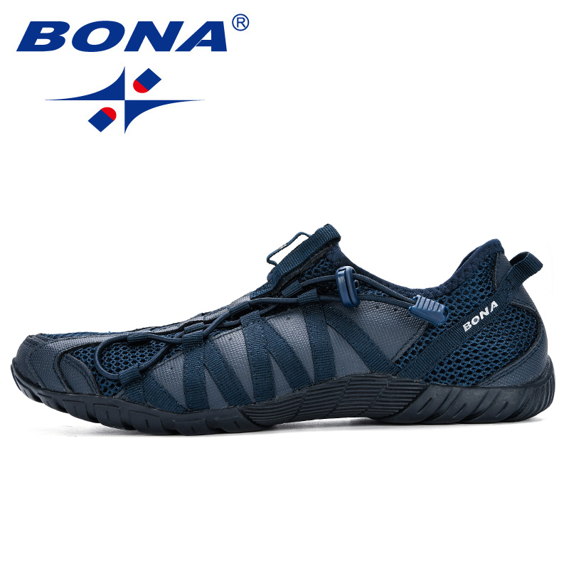 BONA 2019 New Popular Casual Shoes Men Lac-up Lightweight Comfortable Breathable Walking Sneakers Man Tenis Feminino Zapatos 4