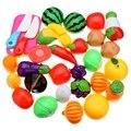 Nuevo 20 UNIDS Corte Divertido Frutas Verduras Cocina Playset Juguetes Para Niños Juguetes Educativos Kidsmart Juguete Jugar a las Casitas de Plástico de Colores