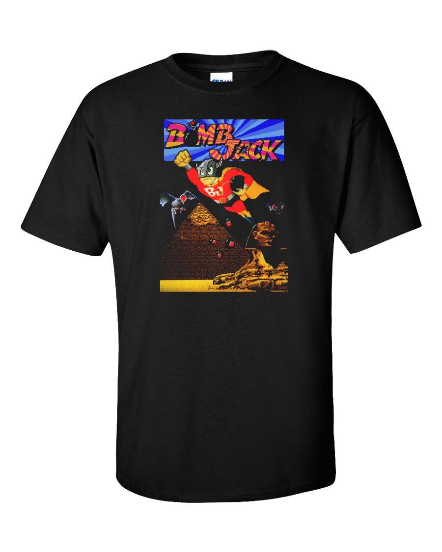 Джек бомба Мужская футболка Классический Commodore 64 Ретро видео игры Винтаж Geek Gamer Футболка с принтом летние шорты животного