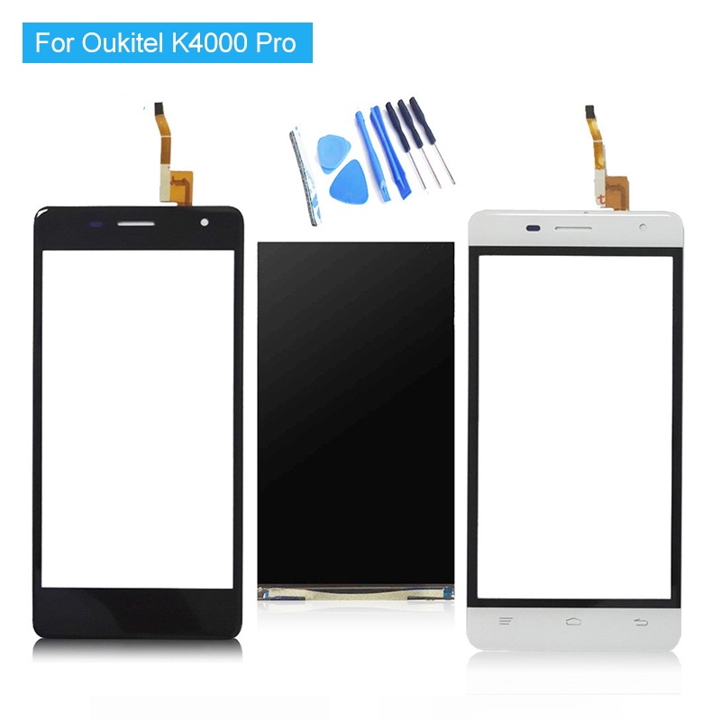 For Oukitel K4000 Pro LCD Display and Touch Screen Digitizer Assembly 100% Tested New Replacement K4000 Pro LCD + Tools