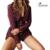 2017New Chegada Mulheres Moda Sólidos Império Macacão Longo Manga Solta Feminino Marca Calções Macacão Macacão Sensuais Mulheres Macacão Playsuit