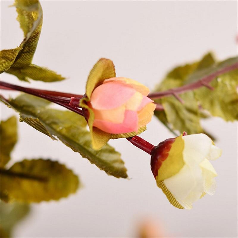 220 εκατοστά Fake Τριαντάφυλλα μετάξι Ivy - Προϊόντα για τις διακοπές και τα κόμματα - Φωτογραφία 6