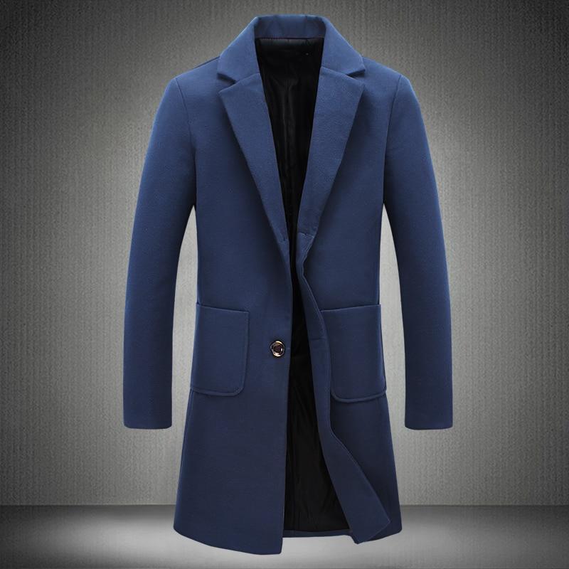 Online Get Cheap Long Black Trench Coat Men -Aliexpress.com ...