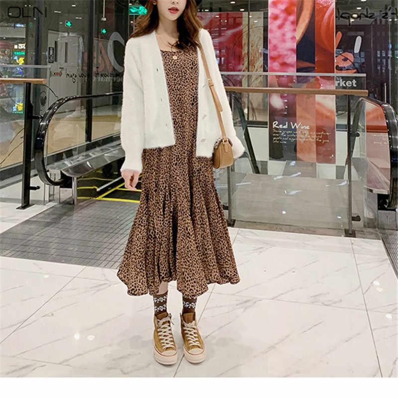2019 новый корейский вариант весны ленивый ветер сплошной цвет свитер женский кардиган свободная тонкая куртка рубашка