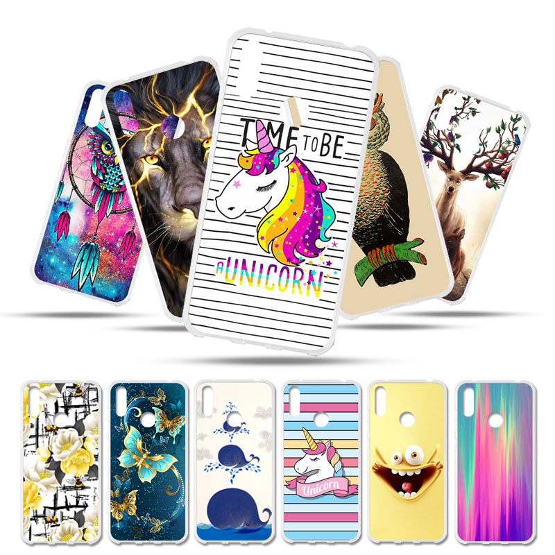 Bolomboy Painted <font><b>Case</b></font> For <font><b>Huawei</b></font> <font><b>Y7</b></font> <font><b>2019</b></font> <font><b>Case</b></font> Silicone Soft TPU <font><b>Cases</b></font> For <font><b>Huawei</b></font> <font><b>Y7</b></font> Prime <font><b>2019</b></font> Cover Wildflowers Cute Animal Bag image