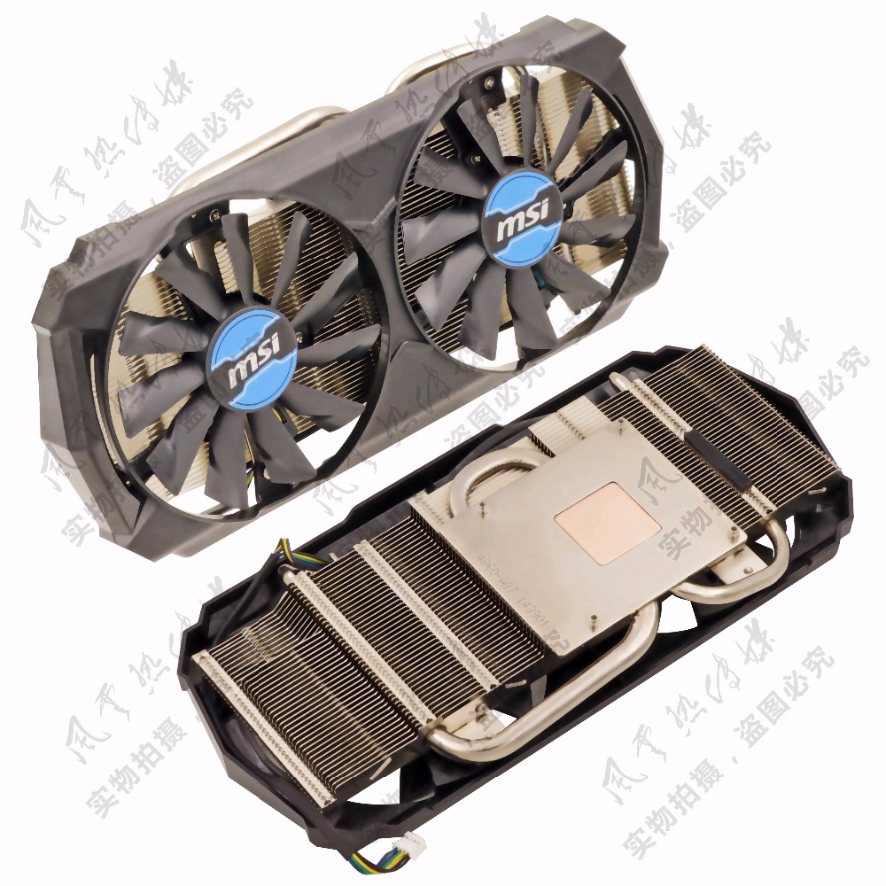 купить New Original for MSI GTX760 GTX950 GTX960 GTX970 white tiger version of the video card radiator. онлайн