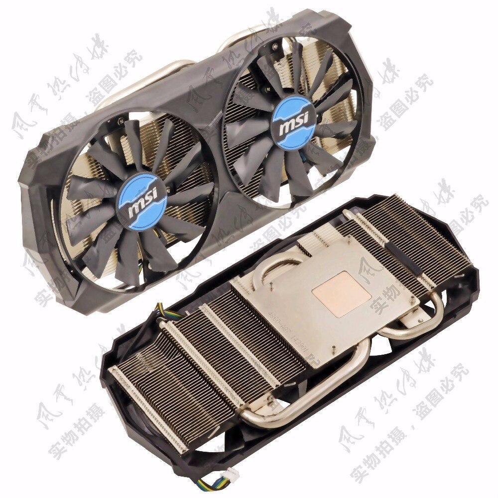 Nouvelle D'origine pour MSI GTX760 GTX950 GTX960 GTX970 tigre blanc version de la carte vidéo radiateur.