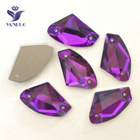 YANRUO 3256 All Sizes Amethyst Galactic Sew On Strass Crystal Rhinestone Flat Back Glass Sewing Stones For Dress