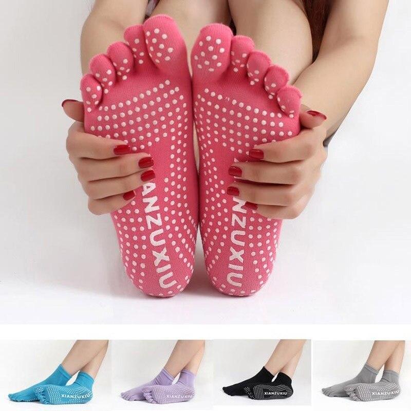 1 Pair Women Yoga Socks Non-slip Massage Rubber Fitness Warm Socks Gym Dance Sport Exercise Barefoot Feel One Size