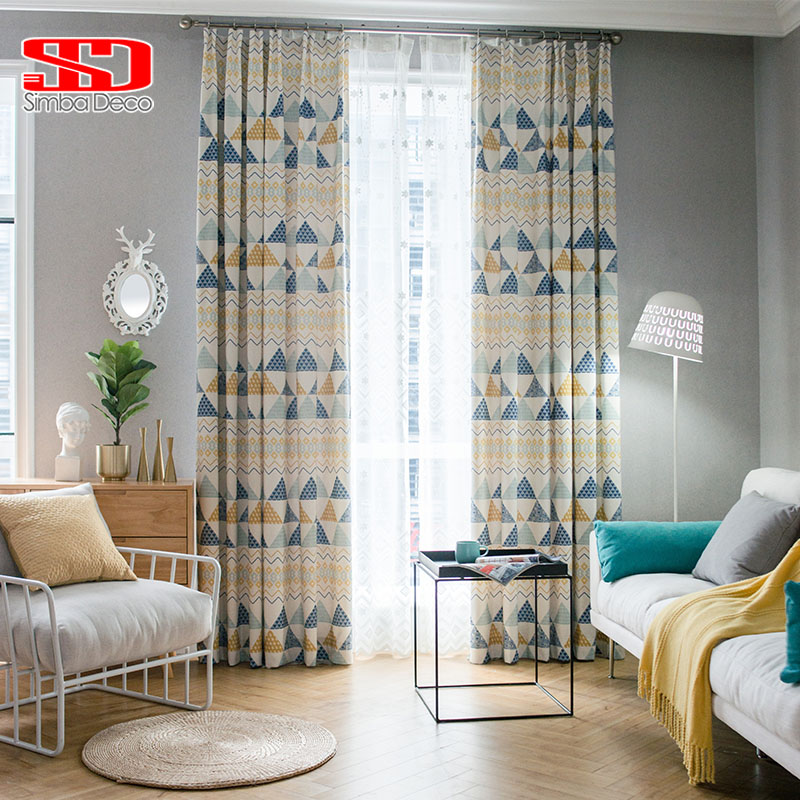 Blinds For Childrens Bedroom Modern Loft Bedroom Design Ideas Bedroom Jpg Bedroom Colours In Asian Paints: Modern Geometric Cotton Curtains For Kids Bedroom Drapes