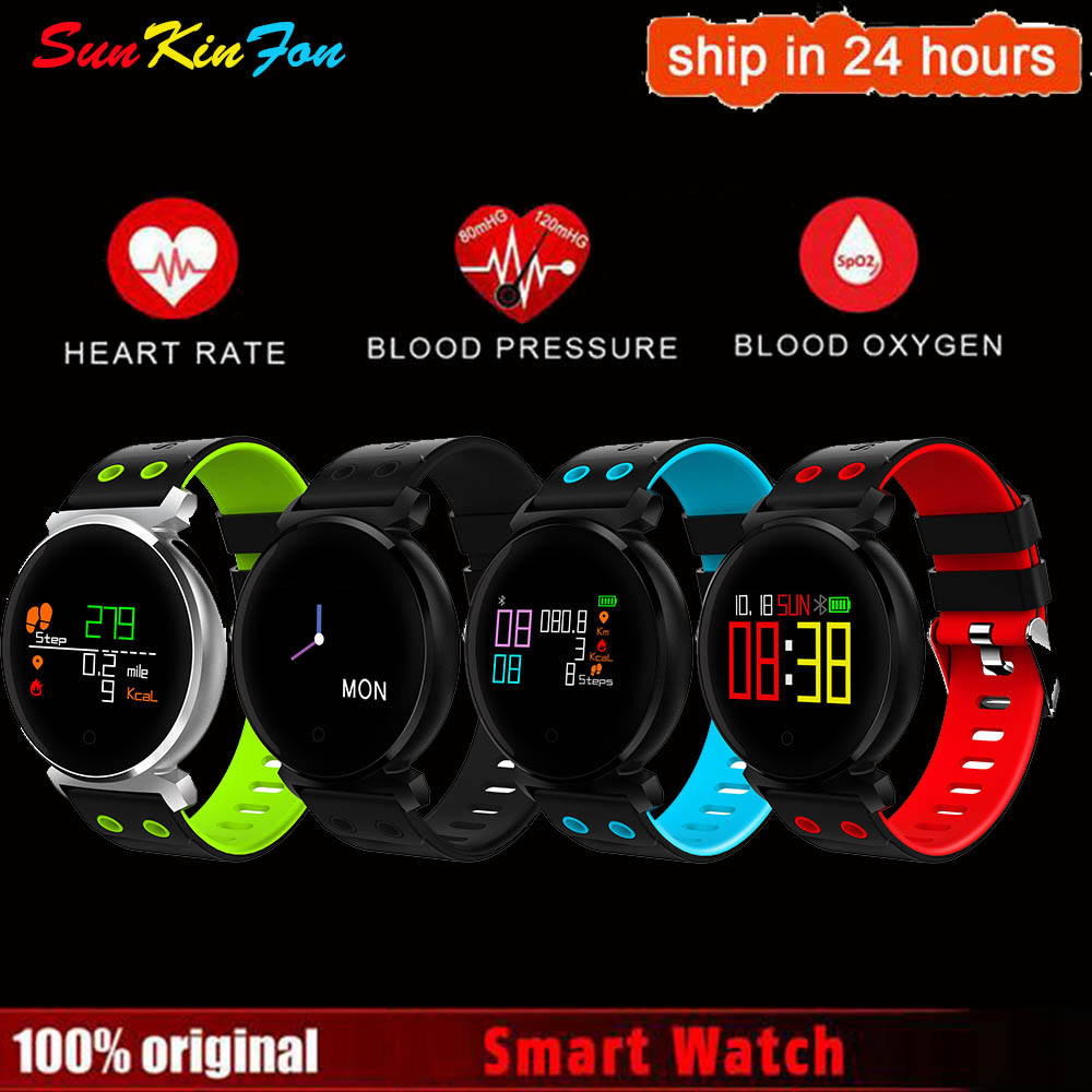 Pour iPhone 6 s 7 Plus W2 Smart Bracelet Bracelet Moniteur de Fréquence Cardiaque Sang Pression/Détection De L'oxygène Fitness Tracker bande à puce