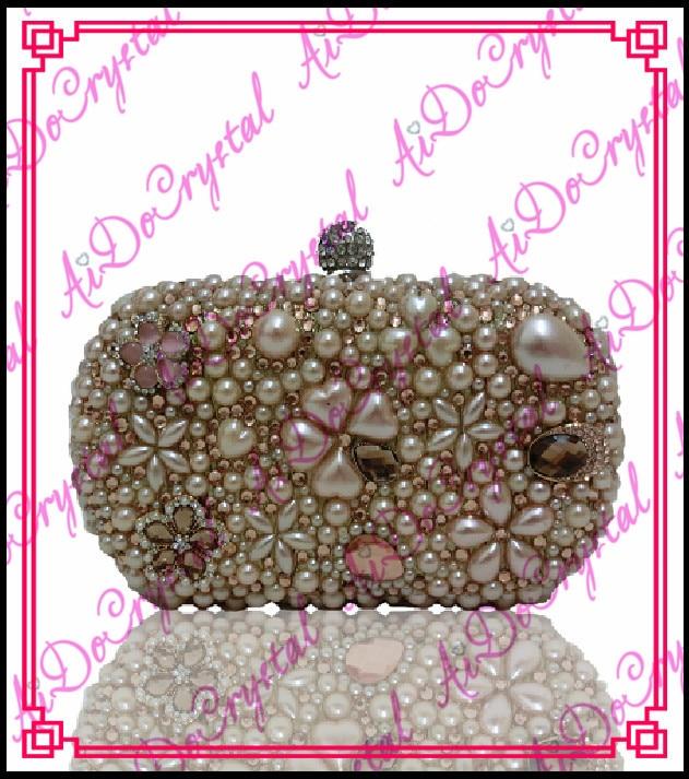 Aidocrystal handmade Latest Design font b Women b font Fashion champagne Clutch purse for wedding party