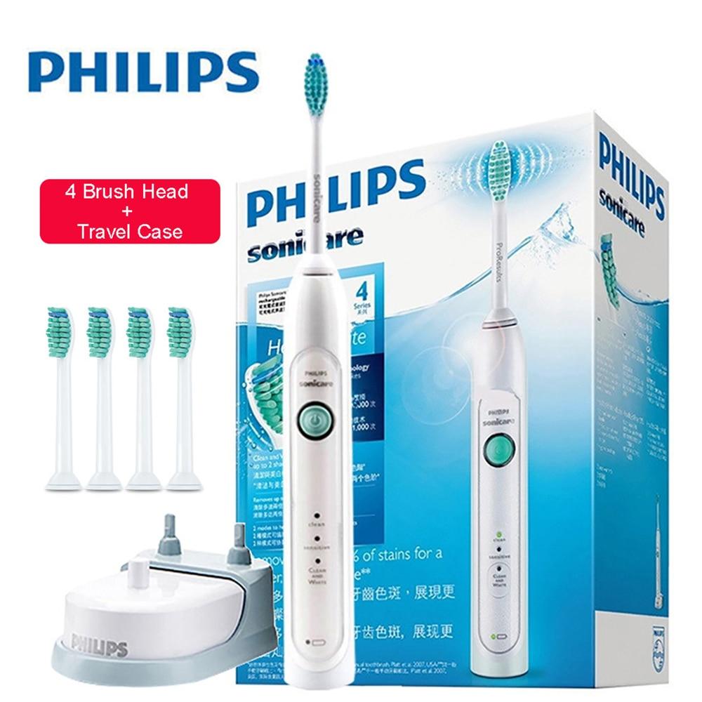 Оригинальный PHILIPS HX6730/02 Водонепроницаемый Sonic Зубная щётка es Перезаряжаемые Зубная щётка для взрослых глубокий Чистый режим с 5 головка щетк...