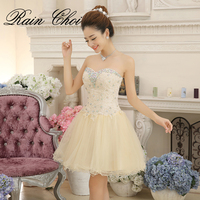 Mini Cocktail Dresses Charming Evening Prom Party Gown Champgane Short Cocktail Dress 2016