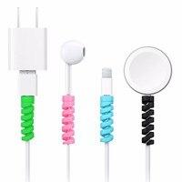 2 stücke Protector Saver Abdeckung Für Apple iPhone 5 6 7 8 X für USB Ladegerät für Latop Maus Computer kabel Kabel Wickler