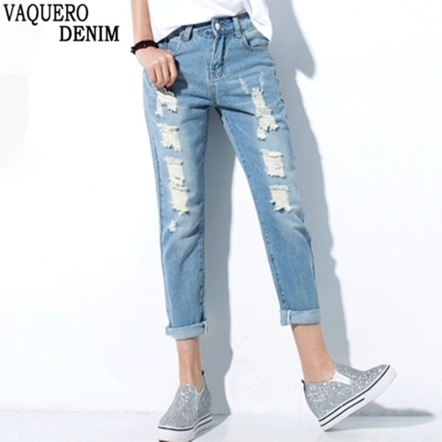 Aliexpress.com : Buy 2016 Hot sale Women's ripped jeans Fashion ...