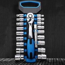 1/4 3/8 1/2 pollici Unità Ratchet Socket Wrench Set CR V WrenchSpanner per il Motociclo Della Bicicletta Auto di Riparazione Set di Strumenti CV zoccolo in acciaio