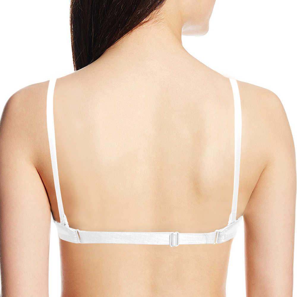 YANDW Seksi Sütyen Kadınlar Push Up Yastıklı Basit Görünmez Silikon Straplez Backless Çok Fonksiyonlu Sapanlar 70 75 80 85 90 A B C D