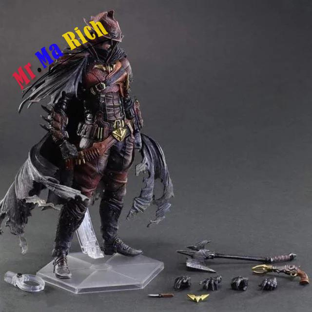 Movie Figure 28 Cm Square Enix Play Arts Painted Figure Steam Punk Cowboy Batman Pvc Action Figure Collectible Model Toy huong anime figure 28 cm square enix variant play arts spiderman spider man pvc action figure collectible model toy brinquedos