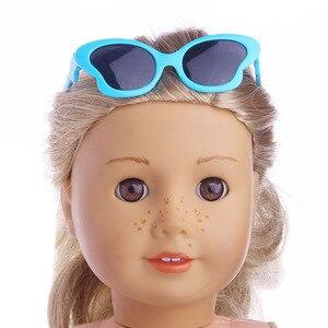Аксессуары для кукол модные стильные солнцезащитные очки подходит для 18 дюймов американская кукла и 43 см детская кукла