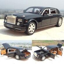 Высокая имитация 1:24 Rolls Royce Phantom, удлиненный, литой Сплав, режим автомобиля с шестью дверями для детей, коллекция игрушек в подарок