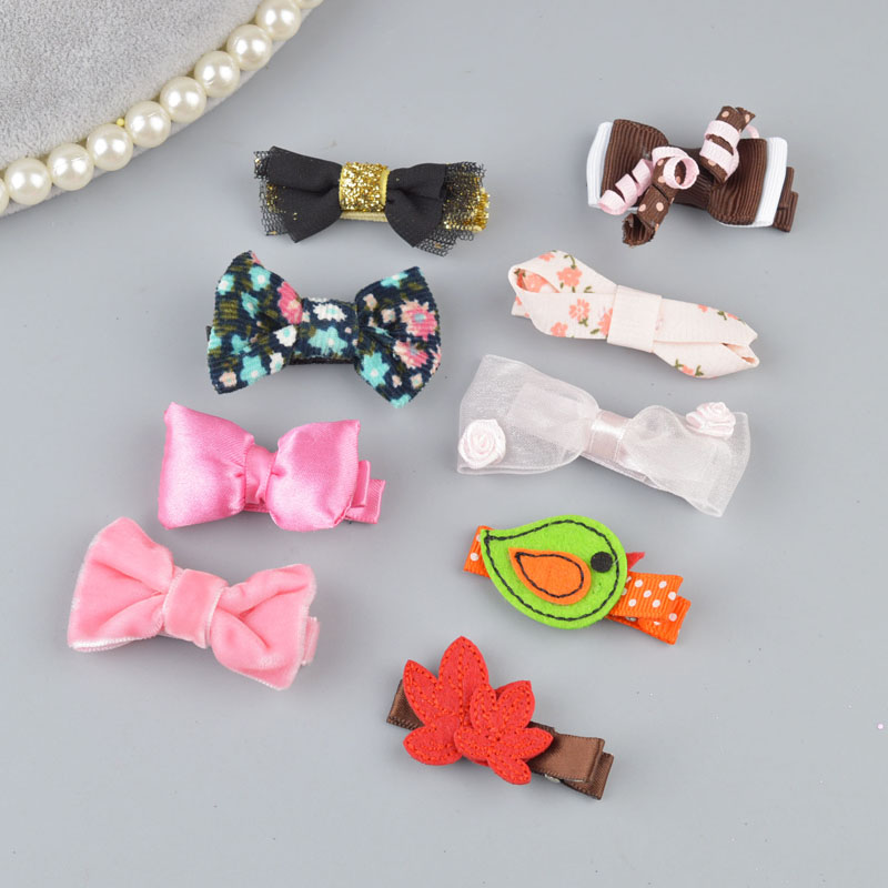 Yyxuan Fabric Cute Cartoon Girls Hair Clips Kids Toddlers Bow Hairpin Barrettes Fashion Accessories As0064 Neither Too Hard Nor Too Soft Hair Accessories Mother & Kids