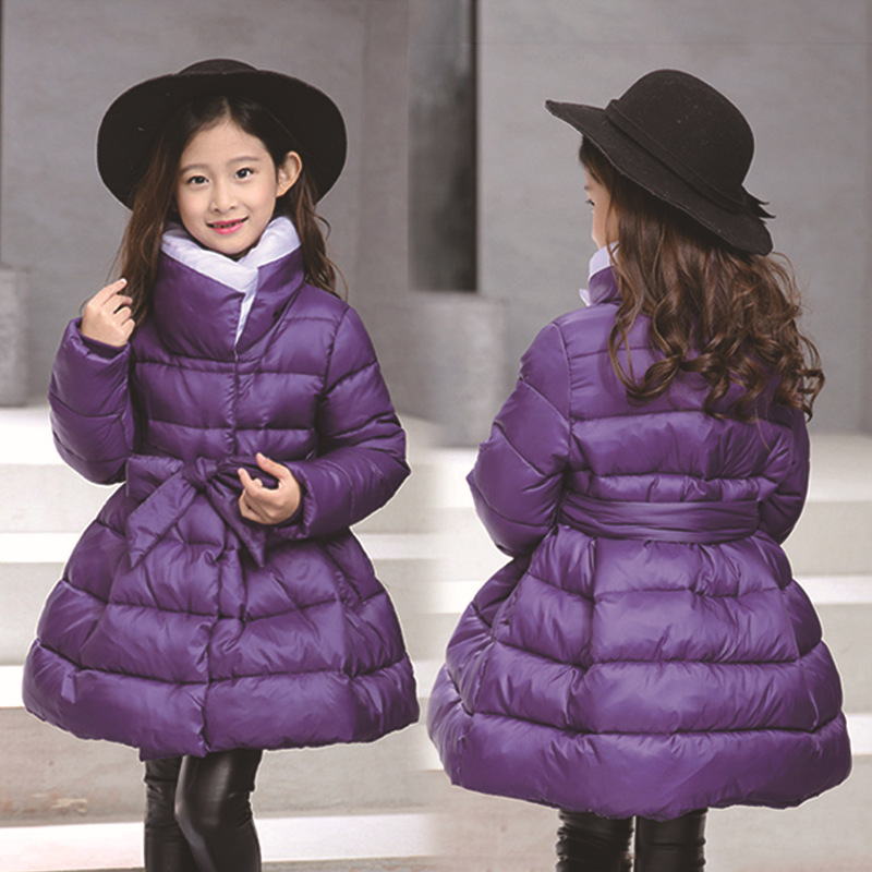 Christmas Girls Coats and Jackets Winter Girls Jacket Kids Coat with Waistband Parkas Roupas Infantis Menina Girls Outerwear bohemia ivele crystal подвесная люстра bohemia ivele crystal 1702 6 250 c nb r701