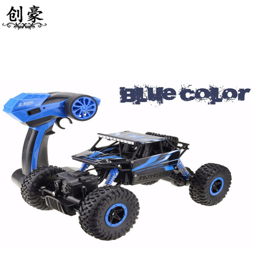 1:18 voiture Rc 2.4 ghz escalade voiture 4x4 Double moteurs Bigfoot voiture télécommande modèle véhicule tout-terrain jouet