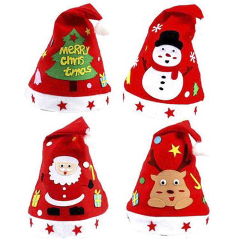 DIY Christmas Accessories Children's Handmade Materials Package Kindergarten Christmas Creative Santa Snowman Children Hot Handm