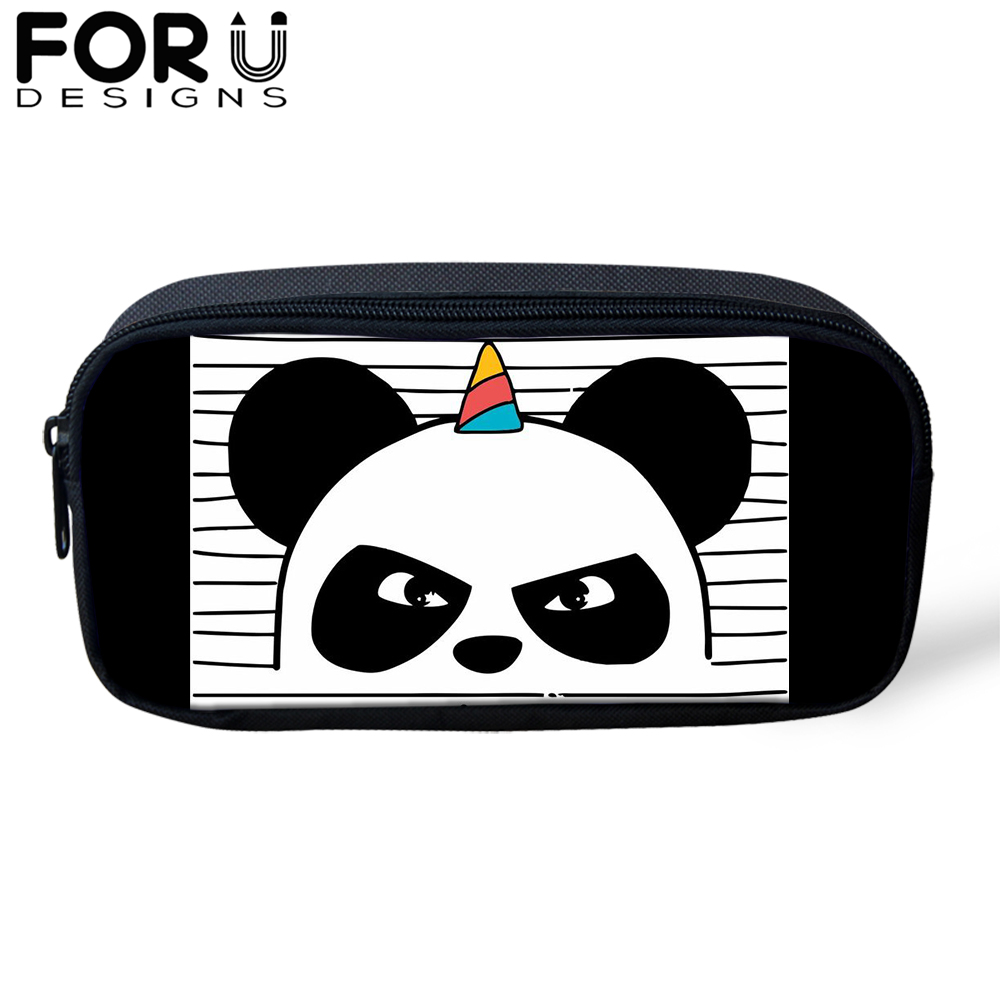 Panda Unicorn Pencil Cases for Kids Students Pencil Box Women Cute Makeup Bags Girls Large Capacity School Stationery Supplies in Cosmetic Bags Cases from Luggage Bags