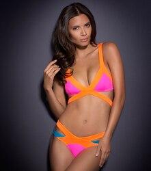 Sport été Push Up couleur correspondant bandage style tankinis maillot de bain Bikini ensembles maillots de bain pour femmes Sexy fille maillot de bain S-XL