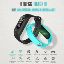 Blood Pressure Smart Wristband OLED Men Heart Rate Tracker Pedometer Watches Bluetooth 4.0 Message Call Reminder IOS Smartwatch