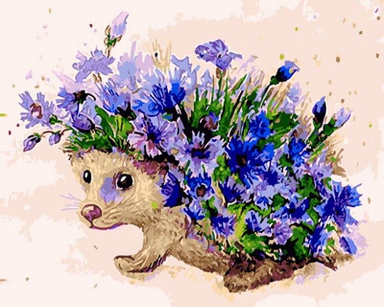 Открытки звери с цветами, стильные картинки