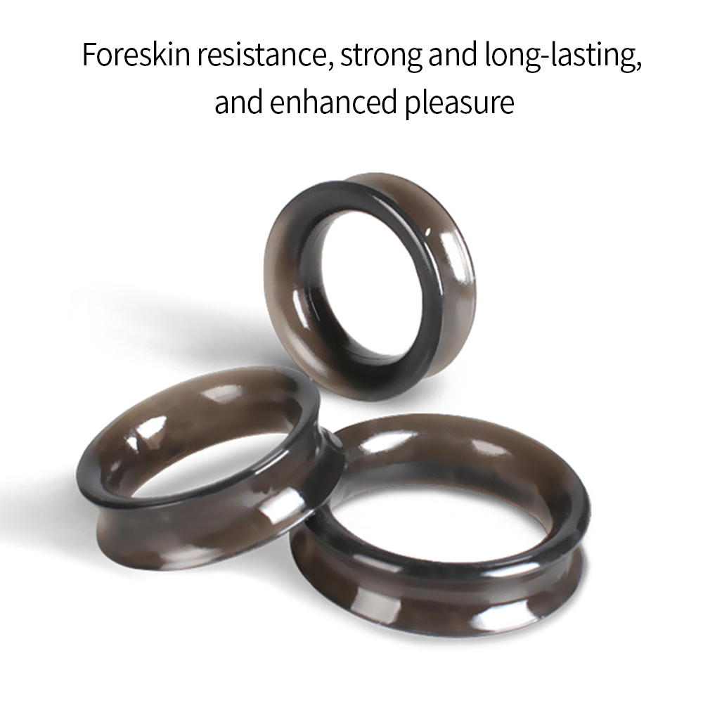 3pcs 28/30/35mm Cock Ring Time Delay Ejaculation Penis Ring Cock Penis Ring Sex Toys For Men Male Reusable Cock Sleeve