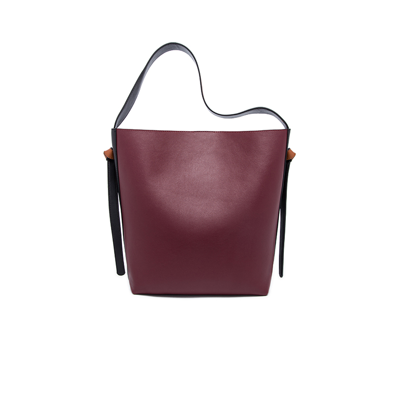 2017 New fashion real cow genuine leather bag high quality shoulder bags for women designer casual ladies pannelled bucket bag donghong real cow leather ladies hand bags women genuine leather handbag shoulder bag hign quality designer luxury brand bag