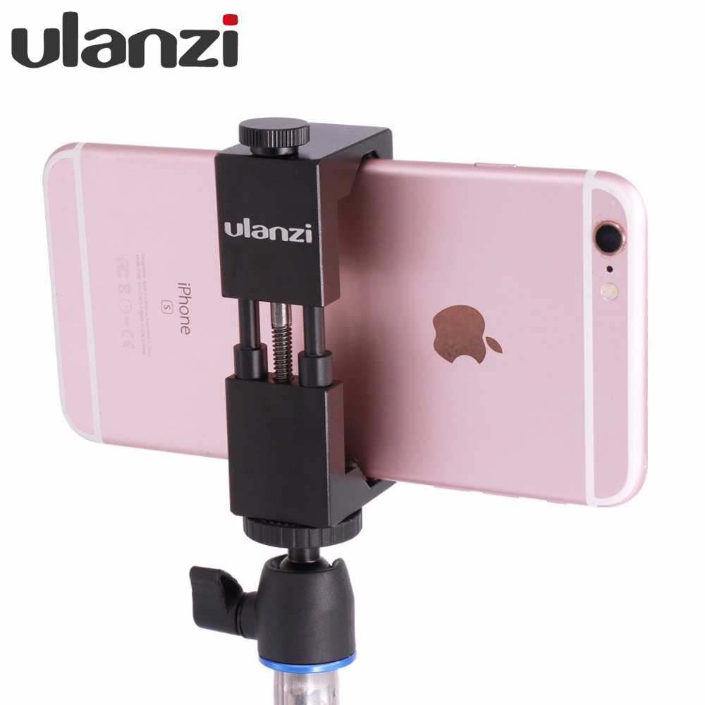Smartphone Tripod Mount Aluminum Metal Universal Smart Phone Tripod Adapter Stand Size clip clamp ulanzi iron man aluminum universal phone mount holder stand clip tripod mount adapter for iphone 7 7 plus android smartphone