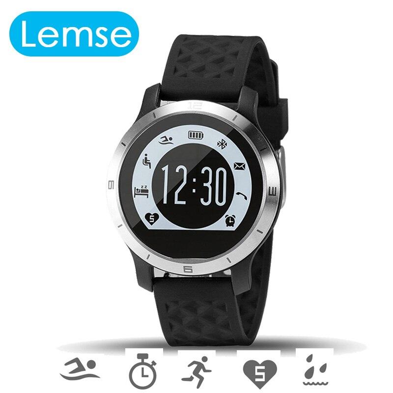 LEMSE F69 Bluetooth font b smart b font font b Watch b font IHeart Rate Monitor